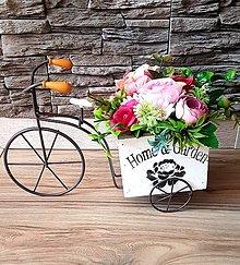 """Dekorácie - Kvetinová dekorácia """"bicykel"""" - 13372515_"""