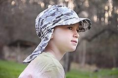 Detské čiapky - šiltovka Army piesková - 13375533_