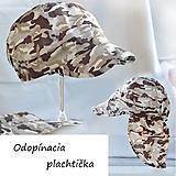 Doplnky - Army šiltovka piesková s odopínacou plachtičkou - 13375903_