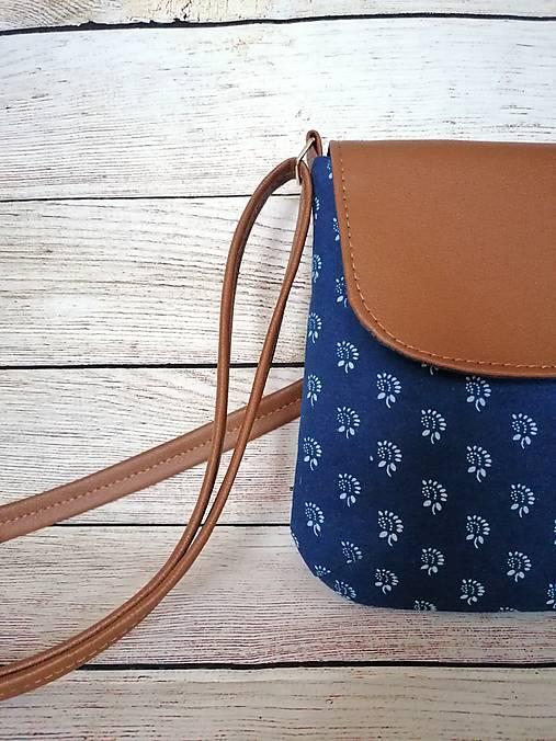 modrotlačová kabelka Ria hnedá 4