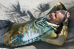 Mikiny - Golden aztecs forest - pánska termo mikina - 13374466_