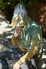 Mikiny - Golden aztecs forest - pánska termo mikina - 13374470_