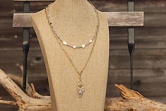 Náhrdelníky - Súprava náhrdelníkov - náhrdelník a retiazka - 13373112_