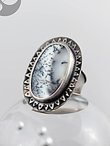 Prstene - Strieborný prteň s dendritickým opálom - 13379212_