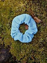 Scrunchies ľanová gumička belasá
