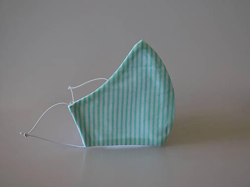 Dizajnové rúško pásik zelený
