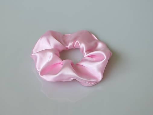 Scrunchies gumička saténová (ružová)