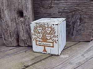 Dekorácie - Rodostrom - veľká kocka s menami - 13376545_