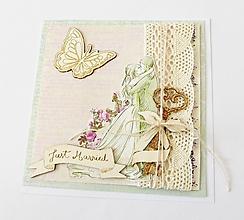 Papiernictvo - pohľadnica svadobná - 13376276_