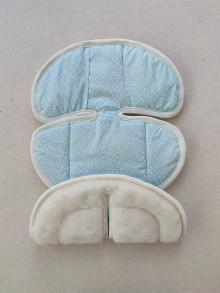 Textil - VLNIENKA podložka do autosedačky Klippan Dinofix 0-13kg 100% Merino Top Super wash proti poteniu Mint trojuholníky - 13377692_