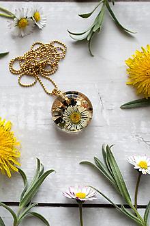 Náhrdelníky - Náhrdelník Sedmokráska kruh perleť 3035 A CHO - 13377306_