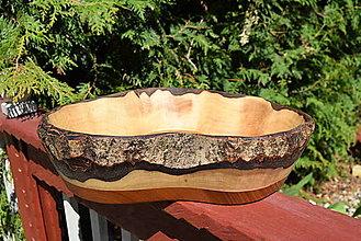 Nádoby - Masívna miska - orech, čerešňa 10 - 13376845_