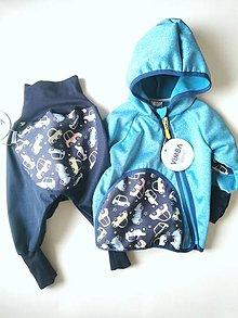 """Detské oblečenie - Softshellka+nohavice """"retro cars"""" v.80 a v.86-92 - 13377035_"""
