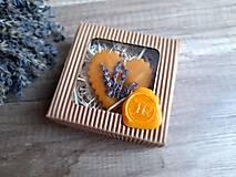 Dekorácie - Vonný vosk v krabičke (srdiečko evanduĺa) - 13376536_