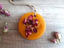 Dekorácie - Vonný vosk v krabičke (kruh ruža) - 13376538_