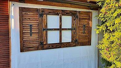 Dekorácie - Chaluparske falošne okienko s okenicami - 13378635_