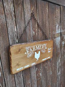 Tabuľky - Farmárska tabuľka - 13378530_
