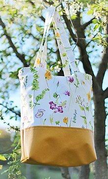"""Veľké tašky - Taška na rameno """"Lúka plná kvetov"""" - 13378733_"""
