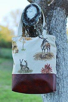 """Veľké tašky - Taška na rameno """"Lesná divočina"""" - 13378798_"""