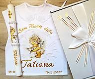 Detské oblečenie - Košieľka na krst + sviečka  - 13377262_