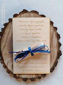 Papiernictvo - Drevena pohľadnica k ukončeniu štúdia - 13376155_