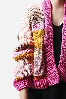 Svetre/Pulóvre - Pletený sveter okrovo ružový - 13381408_