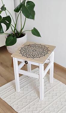Nábytok - Drevený stolček  - 13381743_