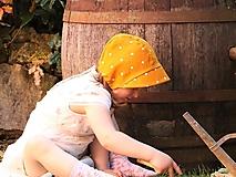 Letný detský ľanový čepček Vivien