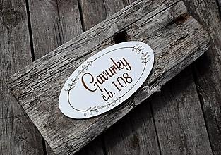 Tabuľky - 15cm menovka na dvere - 13379551_
