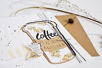 Papiernictvo - Gratulačný pozdrav - Coffee - 13379541_