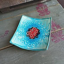 Svietidlá a sviečky - Misa s mandalou - 13380197_
