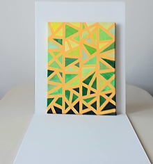 Obrazy - Geometria, abstrakt, akryl, 30 x 40 cm - 13381474_