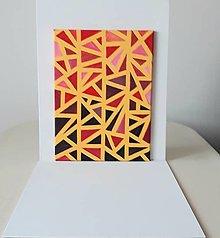 Obrazy - Geometrický abstrakt, akryl, 30 x 40 cm - 13381538_
