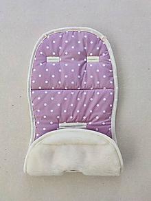 Textil - Vlnienka podložka do kočíka Petite & Mars Street 100% MERINO TOP super wash Bodky staroružová - 13379356_