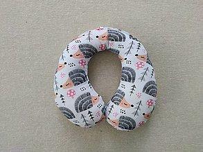 Textil - Vlnienka Cestovný vankúšik pre deti S, M, L, XL  Ježko - 13381549_
