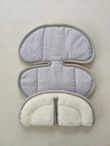 Textil - VLNIENKA podložka do autosedačky Klippan Dinofix 0-13kg 100% Merino Top Super wash proti poteniu Origami šedé - 13381556_