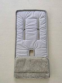 Textil - VLNIENKA podložka do kočíka THULE Chariot SPORT 1 100 % MERINO TOP super wash Grey Origami šedé - 13381567_