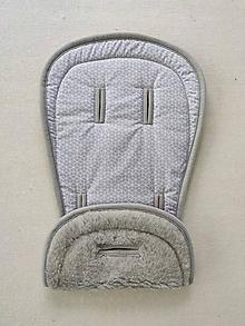 Textil - VLNIENKA podložka do kočíka EasyWalker Harvey2 100% Merino Top Super wash Grey Origami šedé - 13381639_