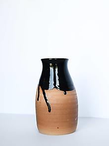 Dekorácie - Váza čierna - 13380540_