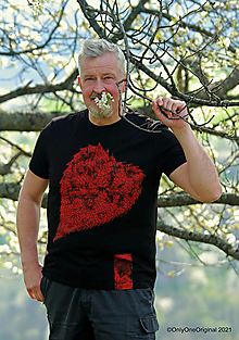 Tričká - Pánske tričko, maľované BUŠIDÓ   - 13381189_