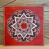 Obrazy - Mandala červená - 13381702_