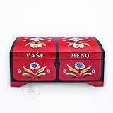 Krabičky - Ručne maľovaná truhlička Rosemaling - 13380139_