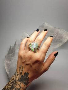 Prstene - Recyklované CD - prsteň - 13382260_