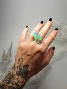 Prstene - Recyklované CD - prsteň - 13382268_