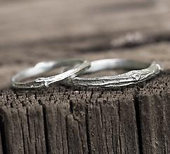Prstene - Vetvičkový strieborný jednoduchý - 13382163_