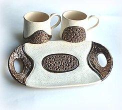 Nádoby - Podnos keramický oválny - 13382026_