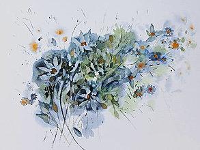 Obrazy - Modré - 13381625_
