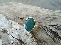 Prstene - Strieborny prsteň Ag925 Smaragd - 13380973_