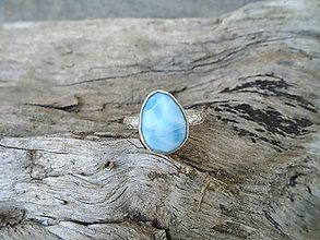 Prstene - Strieborny prsteň Ag 925 Larimar - 13380962_