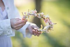 """Ozdoby do vlasov - Kvetinový polvenček """"zakvitol marhuľový sad""""  - 13380076_"""